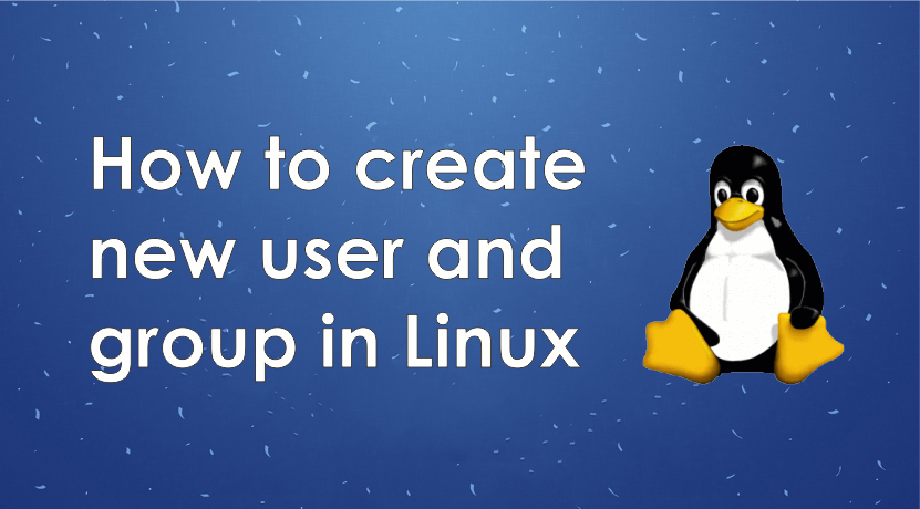 How to create new user and group in Linux